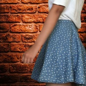 Forever 21 Skirts - A blue with white pok-a-dots skirt.